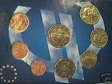 2002 GRECIA 8 monete 3,88 EURO E F S EFS greece grece griechenland Греция 1 2 5