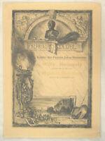 Bernhard MANNFELD Orig. Radierung datiert 1900 J.F. Staedel + Julius Steinmetz