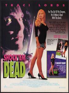 SHOCK 'EM DEAD__Original 1990 Trade print AD / promo__TRACI LORDS__Karen Russell