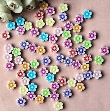 wholesale!50pcs 8.8mm Mixed Multi-Color Flowers Acrylic  Beads