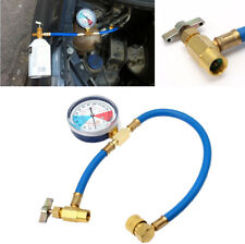 1x Car Air Conditioning AC R134A 24 bar Refrigerant Recharge Hose Pressure Gauge