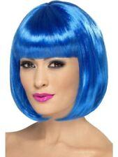 Smiffys Partyrama Wig, 12 inch Female - Blue - One Size
