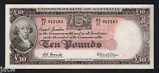 Australia R-63. (1960) 10 Pounds - Coombs/Wilson..  Reserve Bank.. gEF-aU