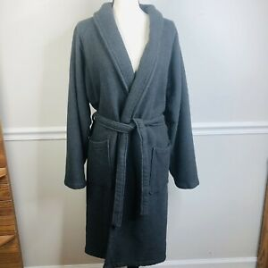 Restoration Hardware unisex gray spa  Bathrobe Housecoat terry cloth medium RH
