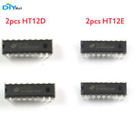 2Pair(4pcs )Hotek(HT12D+HT12E ) DIP-18 IC Remote Decoder Encoder