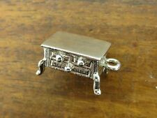 Vintage silver 3D ANTIQUE BEDROOM FURNITURE DRESSER DRAWER BRACELET charm
