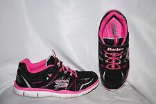 Skechers Gratis Sunny Stps Sneakers Size 2 Y Youth Black Pink Tennis Shoes Girls