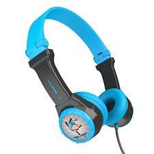 JLab JBuddies Folding On-Ear Headphones for Kids Safe-Volume Control Blue - NEW™