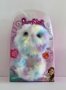 Pomsies FUNFETTI Pom-Pom Soft Plush Pet w/ Color Changing Eyes Kids Toy Gift.