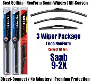 3-Pack Wipers Front & Rear NeoForm - fit 2005-2006 Saab 9-2X - 16220/170/14B