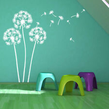 Wall Decal Large Flying Dandelion White Plant Vinyl Wall Stickers Home Living