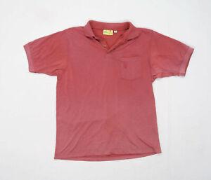 Bonart Mens Size L Cotton Blend Red Polo Shirt