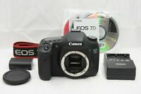 Canon EOS 7D 18.0MP Digital SLR Camera Black Body Only with Strap #200312e