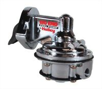 Big End Performance 10105 Small Block Chevy Mechanical Fuel Pump 110GPH, Chrome,