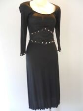Nos Lip Service Spike Studded White Russian Dress Black Lethal Empire Gothic XS