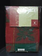 Lintex Holiday Oval Tablecloth 60'' x 104""