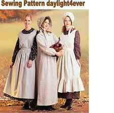Woman Western Pioneer Dress Apron Bonnet McCall's 7220 Sewing Pattern 8-10 #i
