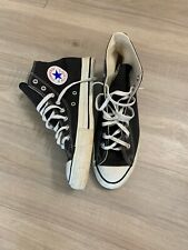 Converse Chuck Taylor All Star Size 10 Vintage Made in Usa 80s Black Original