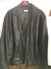 Barneys New York Mens Leather Jacket Large Insulated Lining Worn Once