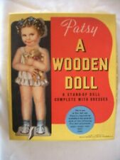 Patsy A Wooden Doll Stand Up With Dresses No 3967 Whitman Pub Usa W/Box Uncut