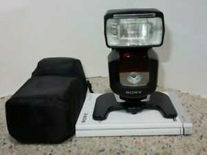 Sony HVL-F43M External Flash with Case and Manual
