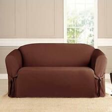 "Microsuede Furniture Slipcover Sofa 74"" x 96""- Brown"
