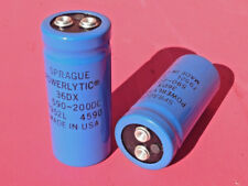 2 pcs. Sprague Powerlytic 36DX Capacitor 590-200DC Caps NOS