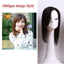 "5.2''×6.7"" Swiss Mono Net Remy Human Hair Topper Toupee Hairpiece Wig For Women"