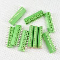 "10pcs 12 Poles/ Pin 2.54mm/0.1"" PCB Universal Screw Terminal Block Connector G10"