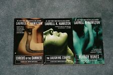 Lot 3 books Laurell K Hamilton Blake Laughing Corpse Circus Damned Bloody Bones