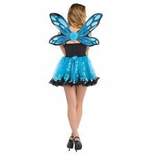 Blue Sparkle Fairy Costume Kit - Pixie Ladies Fancy Dress Outfit Adults