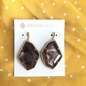 NEW Kendra Scott  Dunn Large Drop Earrings, Sable Mica Doublet MSRP $80