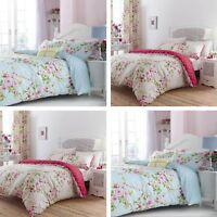 Catherine Lansfield Canterbury Floral Cotton Rich Bedding Set Multi or Red
