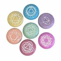 Sacred Essence 7 Chakra Colourful Crystal Engraved Stone Set 3.5cm