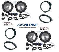 ALPINE SXE-1750S KIT 8 CASSE PER FIAT 500X  ANT /POST CON SUP  ALTOPARLANTI AUTO