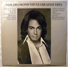 Neil Diamond - His 12 Greatest Hits - LP - MCA 2106 (Vinyl/VG+)(Cover/VG)