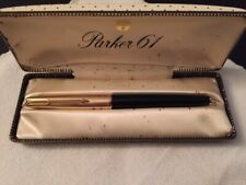 Vintage Parker 61 Fountain Pen Capillary Black, Near Mint, In Its Original Box