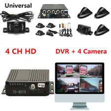 4CH Panoramic Vehicle Car Mobile DVR Security Video Recorder+4 CCD Camera