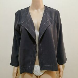 C204 - Mobumsaeng Gray Jacket with Visible Hand-stitching Accent