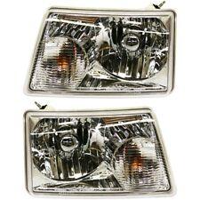 Halogen Headlight Set For 2001-2011 Ford Ranger Left & Right w/ Bulb(s) Pair