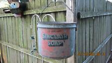 1940's Sinclair 25lb metal soap bucket
