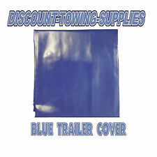 6x4 Trailer Cover 6 Ft x 4 Ft Vinyl Canvas Cover in Blue