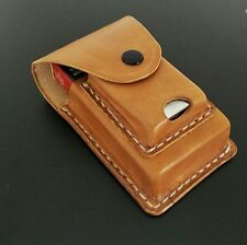 Real Leather Cigarette Case with a Lighter Case for Zippo Handmade Hand Stitched