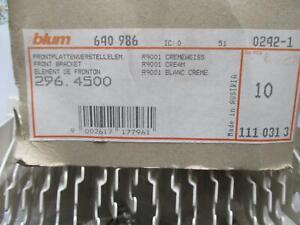 10 Paar BLUM Frontplattenverstellelement, 296.4500