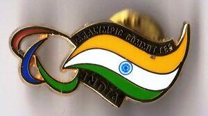 RIO 2016. PARALYMPIC GAMES. NOC PIN. INDIA