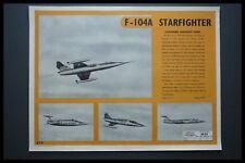 AD LOCKHEED F104 STARFIGHTER COLD WAR ERA AIRCRAFT ID 1956 AIR DIAGRAM SHEET
