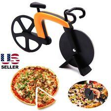 US Stock Bicycle Shaped Pizza Cutter Bike Wheels Slicer Novelty Gift Art & Craft