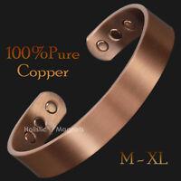 Grand pour Hommes Cuivre Pur Bracelet Magnétique Douleur Santé - M-XL - CB