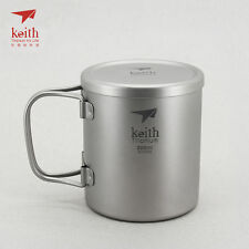 Keith Titanium Ti3351 Double-Wall Mug - 7.4 fl oz (Shipped from California, US)