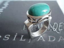 SILPADA RARE RETIRED Geometric Sterling Silver 925 Turquoise Ring Sz 6 1/4 R0786